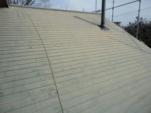 塗装前の屋根です。