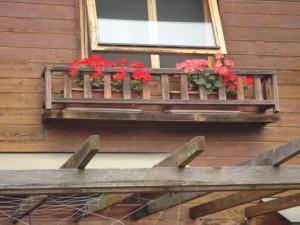 交換前の花台