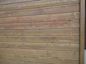 塗装前の外壁をアップで