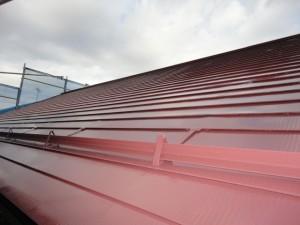 遮熱塗装が終わった屋根