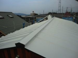 遮熱塗装した屋根