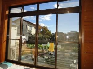 リフォーム前のアルミ引き違い窓