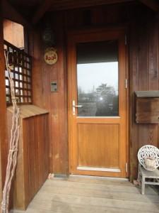 木製サッシのドア
