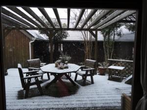 絵のような雪景色です