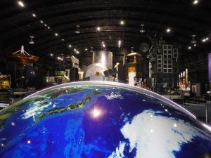 ロケット人工衛星などの展示館