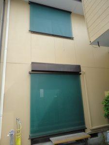 一・二階ともサングッドのグリーン色です