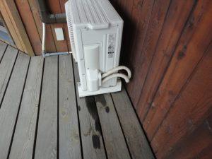 エアコン室外機からの水漏れ