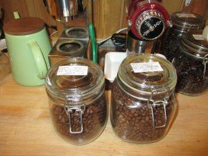 新しいコーヒー豆です