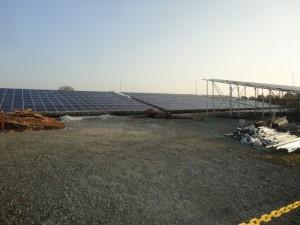 壊れる前の太陽光発電施設