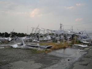 突風被害に合った太陽光発電