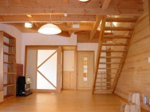 オープン階段のリビング