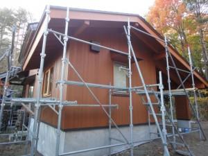 外部ウエスタン・レッド・シダー張り塗装も完了