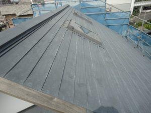 屋根の洗浄が完了