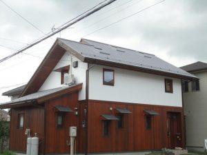 塗装工事が完了した屋根外壁全体