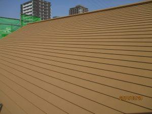 遮熱塗料を塗った屋根