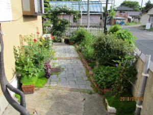 小さな庭です