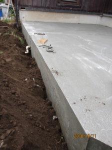 コンクリートを深く打つ